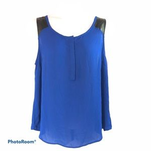 Torrid Blue tank top button front women size 1
